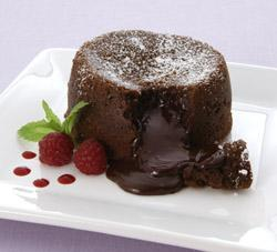 Molten Chocolate Cake With Strawberry